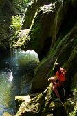 Waterfall Bigar at Semenic national park
