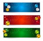 Horizontal Polygon Christmas Banners