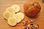 Healthy Banana Nut Muffin Snack