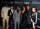 NEW YORK- OCT 24: Actor Jamie Foxx (second from right) attends the premiere of Canon's