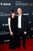 NEW YORK- OCT 24: Bryce Dallas Howard (L) and Ron Howard attend the premiere of Canon's
