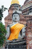 Ayuthaya--Aug 24:The Ancient Buddha Statue, August 24,2012 in Ayuthaya, Thailand