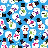 Vector Seamless Tileable Christmas Themed Patterned Background