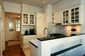 Kitchen In White And Ecru