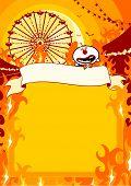 Halloween carnival on fire