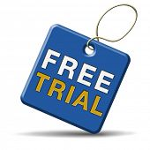 free product trial sample. Test new items here and now, limiter offer. Icon sign or label for promot