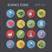 Flat Icons For Science