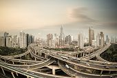 Shanghai Elevated Road Junction Panorama