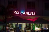View At Ocean Drive With The Carlyle Hotel By Night