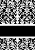 stock photo of png  - White and black damask with bold design throughout - JPG