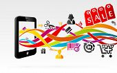 picture of hook  - Online shopping using internet connected mobile phones - JPG