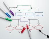 foto of sharpie  - Organization chart being drawn with felt - JPG