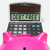 Debt Free Calculator Means No Liabilities Or Debts