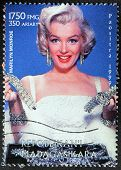 Marilyn Stamp From Madagascar-3