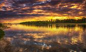 Sunset On The Loire River In France