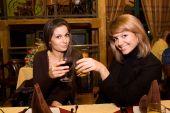 Girls in the restaurant