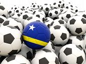 Football With Flag Of Curacao