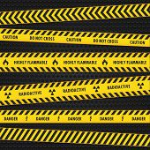 Yellow Hazard Warning Tapes
