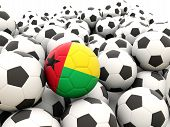 Football With Flag Of Guinea Bissau
