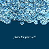 Blue Waves invitation template