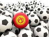 Football With Flag Of Kyrgyzstan