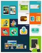Business, Finance, Computers flat concepts collection