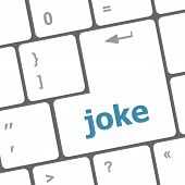 Computer Keyboard Keys With Joke