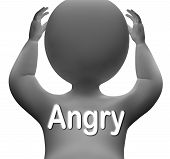 Angry Character Means Mad Outraged Or Furious