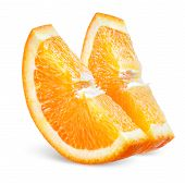 Orange Slice. Fruit On White
