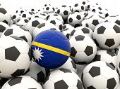 Football With Flag Of Nauru