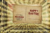 image of he is risen  - Religious Words in grunge style on grunge background - JPG