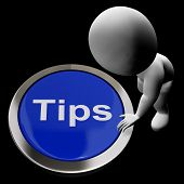 Tips Button Means Suggestions Pointers And Guidance