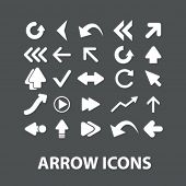 arrow icons set, vector