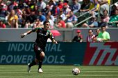 CARSON, CA - APRIL 6: Los Angeles Galaxy M Stefan Ishizaki (24) during the MLS game between the Los