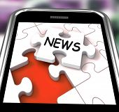 News Smartphone Means Online Updates And Headlines