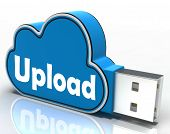 Upload Memory Stick Shows Uploading Files To Cloud