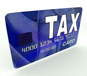 pic of irs  - Tax On Credit Debit Card Showing Taxes Return IRS - JPG