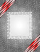 Grey christmas frame