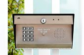 Image of a business security entry keypad