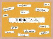 Think Tank Corkboard Word Concept
