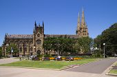 Sydney, Australia-december 19Th 2913: People Relaxing In Hyde Park Next To St Andrew's Cathedral. Bu