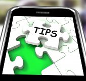 Tips Smartphone Shows Internet Prompts And Guidance