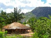 The Village Is In The Mountains. Fabulously Beautiful Landscape. Africa, Mozambique.