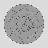 Concentric jigsaw puzzle.