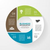 Vector circle infographic. Template for diagram, graph, presentation and chart. Business concept wit