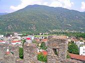 View from Montebello castle in Bellinzona, Switzerland