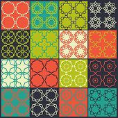 Set Of 16 Seamless Patterns