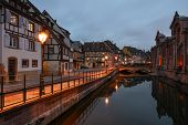 Old Town In Twilight Time