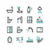 Set Of Icons - A Bathroom