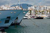 Yachts mooring in Puerto Banus, Marbella, Spain